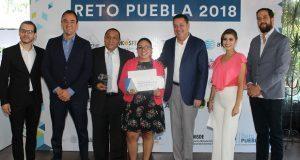 Premian a 6 proyectos y empresas ganadores del Reto Puebla