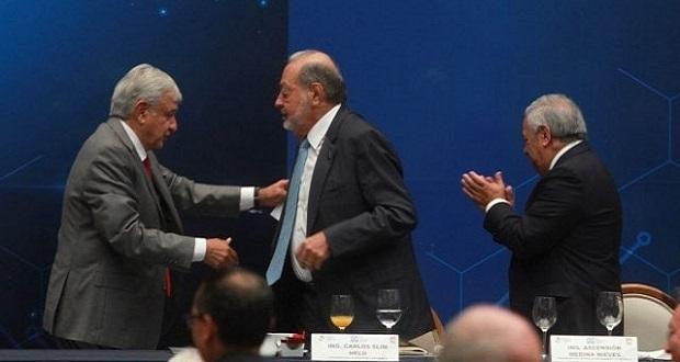 Carlos Slim se retirará de los negocios en mi sexenio, afirma AMLO