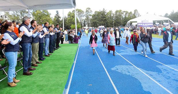 Con mil 200 adultos mayores, Gali inaugura juegos deportivos