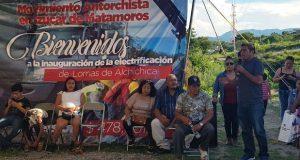 Inauguran electrificación en colonia de Izúcar de Matamoros