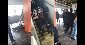 Balean a policía federal en estación Aragón de Metro de CDMX