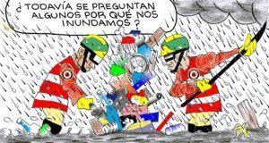 Caricatura: Basura, la responsable de las inundaciones