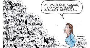 Caricatura: Inseguridad y linchamientos, herencia al nuevo gobierno