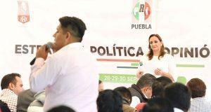 En Cholula, Ruiz Massieu llama a jóvenes a dar credibilidad a PRI