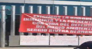 Con plantón en FGE, exigen agilizar búsqueda de activista Sergio Rivera