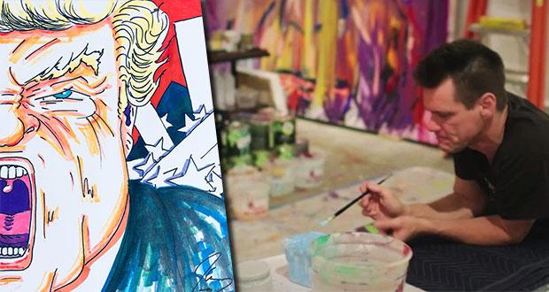 El actor Jim Carrey expondrá sus dibujos satíricos de Donald Trump