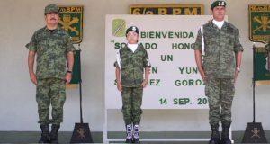 Karen Sánchez, de 11 años, se convierte en policía militar por un día