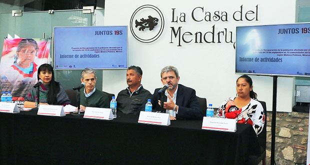 Damnificados de Cohetzala por 19-S critican calidad de casas donadas