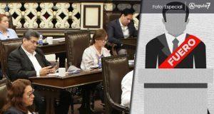 PRI en Congreso de Puebla pide quitar fuero a funcionarios públicos