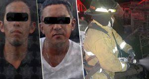 SSP detiene a dos por robo y sofoca cuatro incendios en Puebla