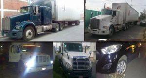 SSP recupera 8 vehículos y una caja seca en 7 municipios de Puebla