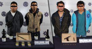 Caen 3 por robo y 2 por privación de la libertad en Puebla capital