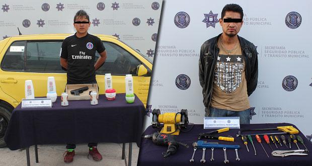 Detienen a sospechosos de robo a Bodega Aurrera y robo a una casa