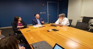 Rivera y Banck se reúnen con funcionarios del Banco Mundial en EU