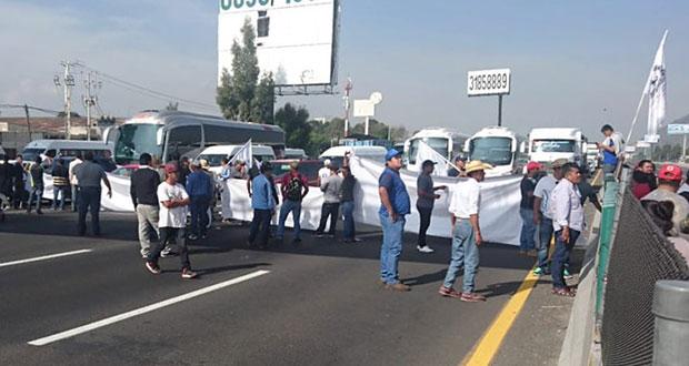 Reabren la México-Puebla y México-Querétaro tras bloqueo de Conimer