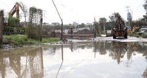 """Con canal, evitan desbordamiento de río """"La Mora"""" en Ocoyucan"""