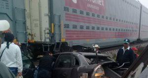 Conductor muere por querer ganarle a tren en la Acatzingo-El Seco