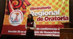 Participan 40 declamadores en justa de oratoria en Huauchinango