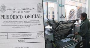 Extender publicación del Periódico Oficial del Estado, proponen