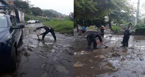 SSP y bomberos apoyan a afectados por lluvias en Izúcar y Puebla