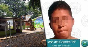 Apresan a sujeto que asaltó a padres y maestros en kínder en Tabasco