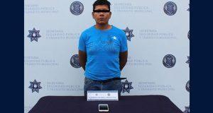 Ssptm detiene a probable asaltante en colonia Guadalupe Victoria