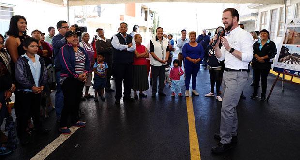 Banck entrega cuatro nuevas vialidades a vecinos de Barranca Honda