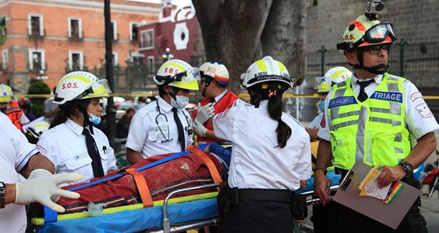 Macrosimulacro en la ciudad de Puebla reúne a 25 mil personas