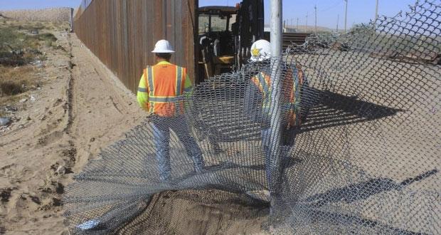 Cambiarán malla fronteriza por muro de acero de 6.4 km en Texas