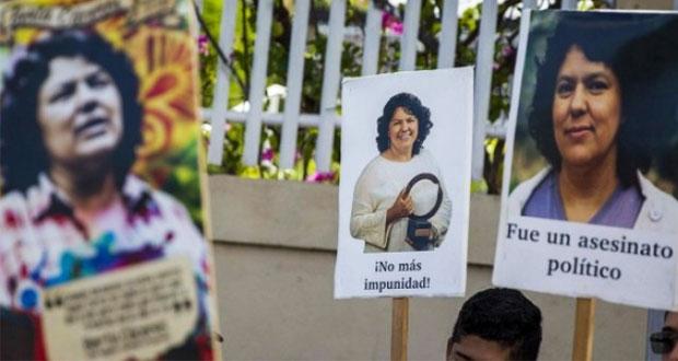 Suspenden juicio por homicidio de activista hondureña Berta Cáceres