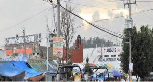 Ejército y policías buscan narcomenudistas en mercado Morelos
