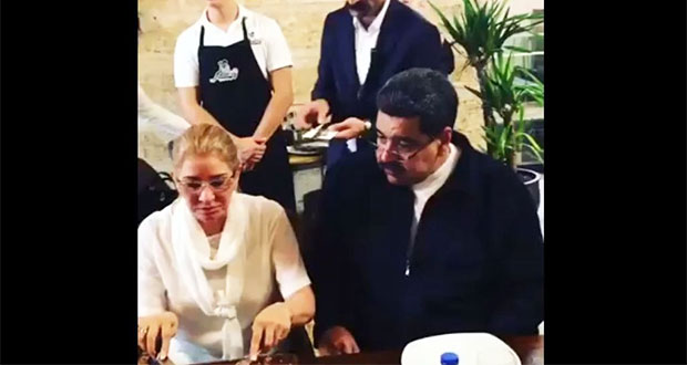 Pese a crisis en Venezuela, captan a Maduro en restaurante de lujo