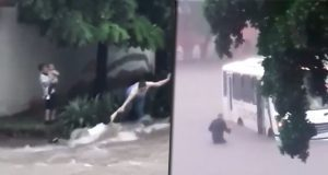 Captan rescates durante inundaciones en Sinaloa
