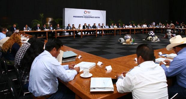 Gali se reúne con alcaldes electos de Por Puebla al Frente