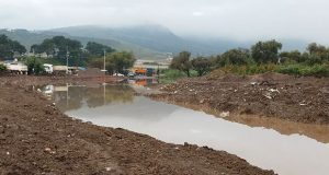 Río Atoyac a máxima capacidad; cierran 11 Sur por precaución