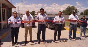 Inauguran pavimentación de calle en La Purísima, Tecamachalco