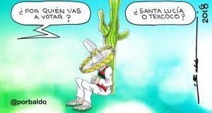 Caricatura: Que el pueblo decida futuro del NAIM