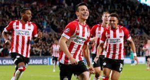 """""""Chucky"""" Lozano hace su primer gol Champions League"""
