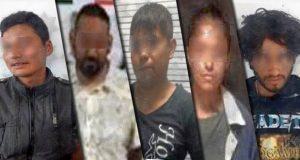 Ocho presuntos delincuentes son asegurados en Puebla por la SSP