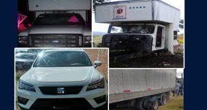Recupera Policía Estatal 5 vehículos con reporte de robo