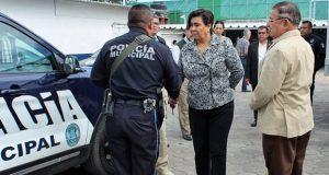 Titular de Ssptm tiene primer acercamiento con policías municipales