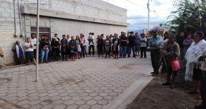 Inauguran adoquinamiento de calle Guerrero en Zinacatepec