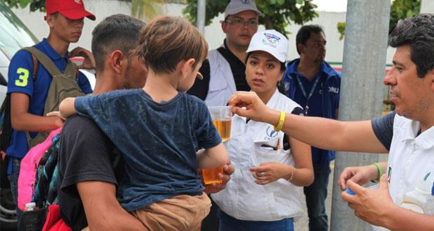 CNDH pide a Puebla y estados brindar atención a migrantes