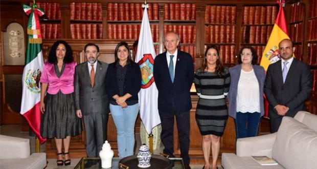 Ayuntamiento de Puebla impulsa desarrollo económico con España