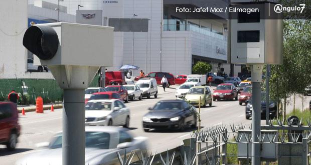 Gobierno de Puebla recauda 75.9 mdp por fotomultas de enero a septiembre