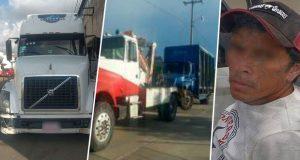 SSP asegura ocho vehículos y a un hombre en Puebla