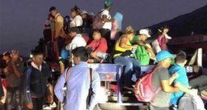 Migrantes de caravana quiere ir al Senado