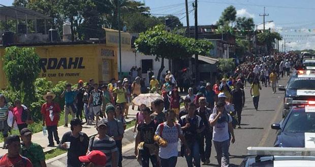 Muere miembro de caravana de migrantes