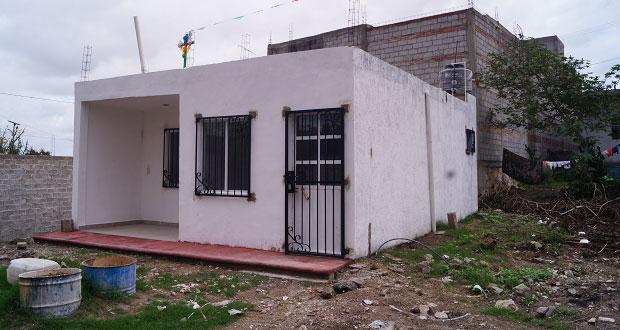Listas, 9 viviendas para familias de colonia El Zotolín, en Tehuacán