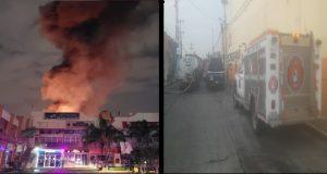 Chedraui frente a la CAPU se incendia; solo deja daños materiales